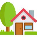 maison avec un arbre icone cc4r