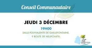 Conseil communautaire du 3 décembre 2020