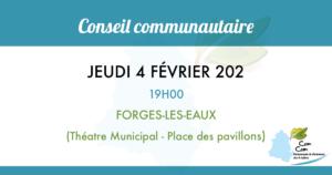 Conseil communautaire du 4 février 2021