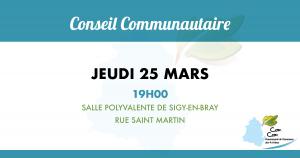 Conseil communautaire du 25 mars 2021