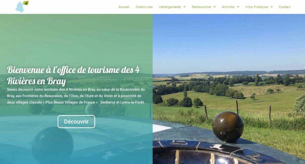 Site de l(office de tourisme des 4 rivières en bray