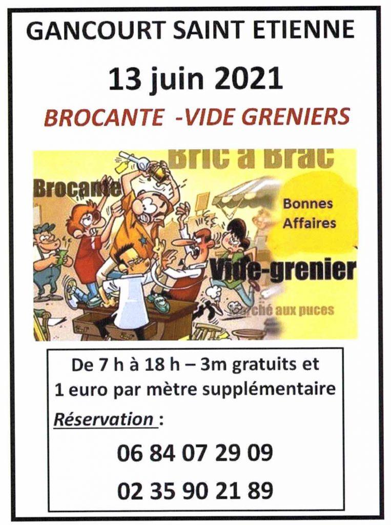 affiche brocante du 13 juin
