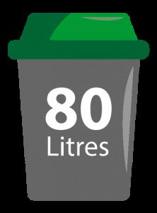 bac vert à ordures de 80 litre du SIEOM