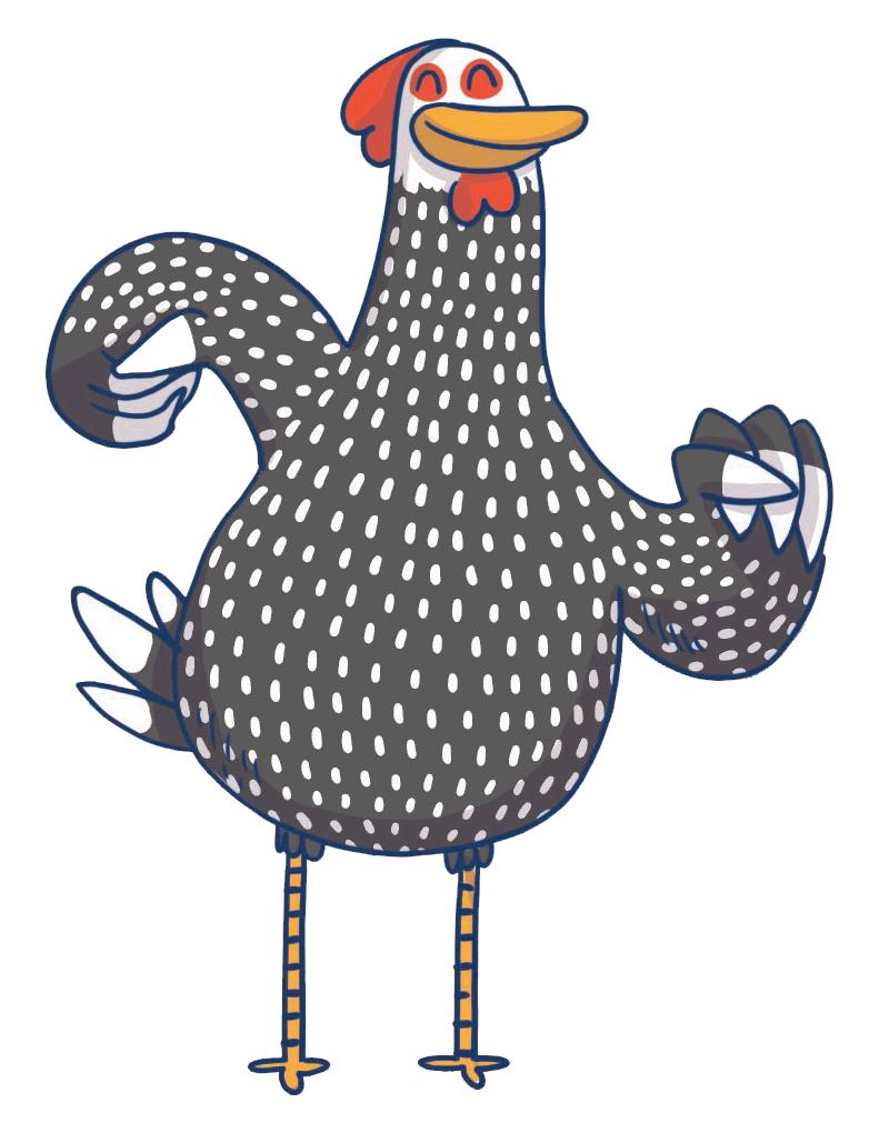 la poule mascotte du SIEOM