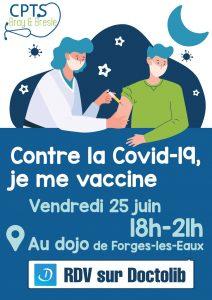 Vaccination Covid-19 – Vendredi 25 juin 2021