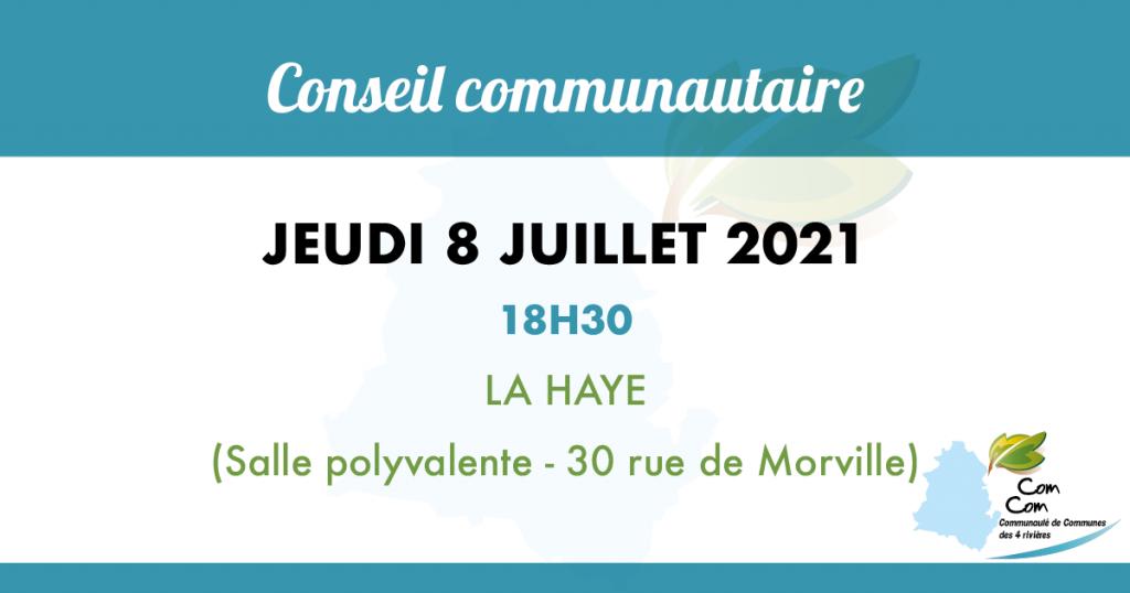conseil communautaire du 8 juillet à la haye