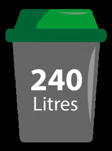 bac ordure ménagères 240 litres sieom