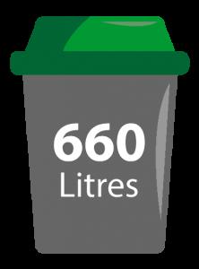 bac ordure ménagères 660 litres sieom